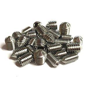 Vis coniques mixtes (lot de 16) 5 mm de longueur, différents filetages métriques, M3, M4, M5 et M6. Vis à tête hexagonale en acier inoxydable de qualité A2
