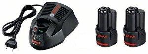 Bosch 1 600 A00 4ZP – batteries rechargeables – 12V (Lithium-Ion, Outils électro-portatif, Noir)