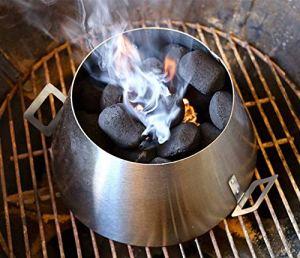 Dracarys BBQ Vortex Weber 22 Bouilloire Weber Vortex- Weber 22,5 18,5 Bouilloire Accessoires de gril – Barbecue en acier Barbecue à charbon Whirlpool – Bouilloire Vortex Weber (moyenne) (2 poignées)