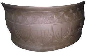 Mengyao Traditional Vieux Pékin siège de Lotus poterie Noire Chambre Bol de Poisson écologique Mousse Verte Respirant Peut Se développer sur Le Balcon Salon avec Patio extérieur