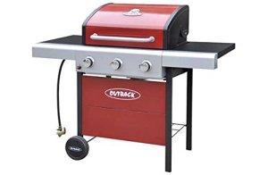 Outback Apollo barbecue à gaz 3brûleurs–Rouge