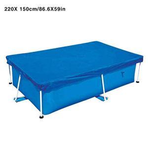 AHHYH Rechteckige Poolabdeckung für Pools mit den Abmessungen 400 x 210 cm, 300 x 200 cm, 260 x 160 cm, 220 x 150 cm 220X150CM