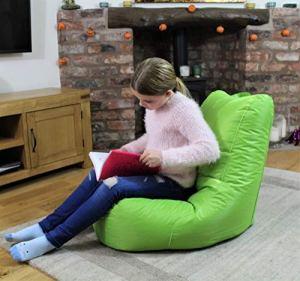 MaxiBean Pouf poire d'intérieur – Fauteuil de jardin relax – idéal pour enfants – Vert citron