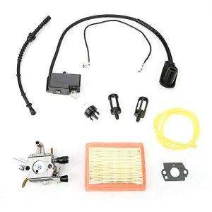 Akozon Carburateur Filtre de Bobine d'allumage pour STIHL FS120 120r FS200 FS250 FS300 FS350 débroussailleuse