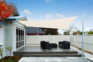 AXT SHADE Voile d'ombrage Imperméable Carré 5 x 5m Une Protection des Rayons UV pour Extérieur/Terrasse/Jardin – Coloris Crème