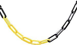 Leisure Centre piscine Arena Chainlink chemin de barrière Standard 25m de chaîne uniquement, noir/jaune
