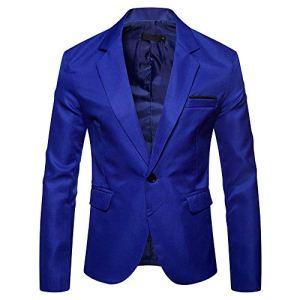 manadlian Blazer Homme Veston Slim Fit Homme Blouse Hiver Veste de Costume à Carreau Classique Mode Manteaux Mariage Business Veste Automne Blouson Hommes