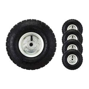4 pneus pneumatiques de 10 po pour Chariot, brouette, etc.