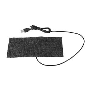 Akozon Tapis Chauffant, Coussin Chauffant Microfibre USB en Fibre de Carbone 20 * 10cm Couverture Chaude