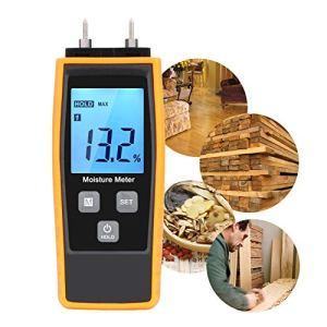 Bois l'humidité Mètre, eau W-unique, l'humidité testeur numérique HD, écran LCD avec rétroéclairage Wood détecteur de l'humidité, 8 groupes Calibrées pour la Sélection et la 2 de notebook Sensor pins