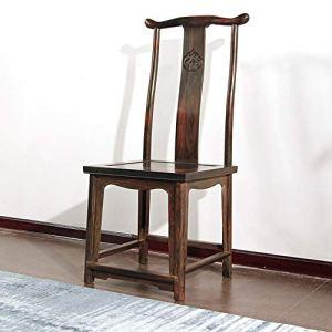 Chaises de salle à manger Comptoir de cuisine CHAISE en bois massif Loisirs Chaise Chaise Chaise dossier informatique approprié Accueil Hôtel Restaurant ( Couleur : Marron , Taille : 44x44x109cm )