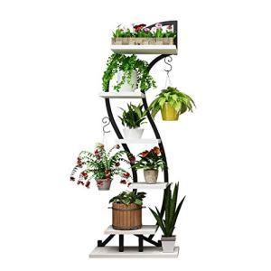Contenants et Accessoires pour Plantes Accueil Salon Jardinière Support Rack Pot en Fer Forgé Multicouche Étage Balcon Intérieur Porte-Plante Succulente Accessoires