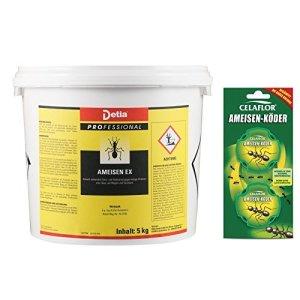 Detia – fourmis-Ex Ameisenmittel – inclus Boîtes d'ant-appâts