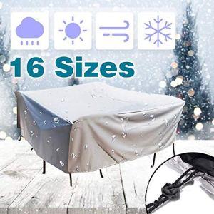 DXR Housse de Protection imperméable à l'eau pour Meubles de canapé, Chaise, Table de Jardin, Patio, Protection de Pluie, Neige