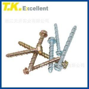 EasyBuying Factory Direct Supplies Boulon d'ancrage hexagonal pour béton autotaraudeur, facile à enlever avec vis à ciment