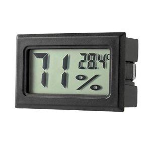 FinukGo Mini thermomètre numérique LCD Professionnel hygromètre Mesure de la température de l'humidité Écran LCD numérique d'intérieur Capteur Noir