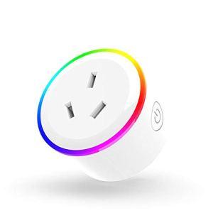 Gwendoll WiFi Smart Socket Voix Smart App Télécommande Socket Effet de lumière RVB Ambiance Scène Smart Socket (AU)