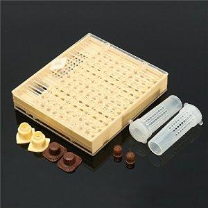HELEISH Boîte à cupkit d'élevage de reine + 110x outil pour apiculture Outil accessoire