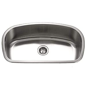 Houzer MB-3300-1 Medallion Designer Series Undermount Stainless Steel Large Single Bowl Kitchen Sink by HOUZER