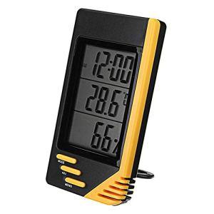 Intérieur Hygromètre LCD Numérique Durable Thermomètre Intérieur Hygromètre Température Humidité Moniteur pour Home Comfort (Color : Yellow, Size : Hygrometer)