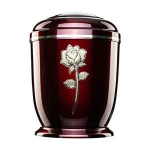 Jager Urna Urnes funéraires funéraires pour Cendres pour Adulte Grand emblème commémoratif en métal Rose doré – Bordeaux
