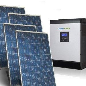Kit solaire Maison Base 9Kw 48V Système Solaire autonome en la isla