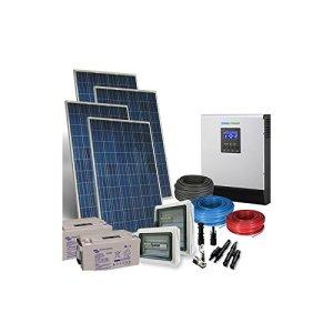 Kit Solaire Maison PLUS 5Kw 48V Systeme Photovoltaique Off-Grid Batteries AGM