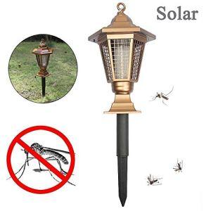 LED Solaire lumière Bug Zapper Tueur de Moustique Lampe de Jardin Lumière, Cour extérieure pelouse légère, imperméable Anti moustiques Piégeage Lampe LED, 4PCS