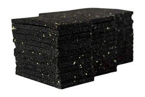 Lot de 36 tampons d'isolation de 6mm pour terrasse Tampons en granulés de caoutchouc