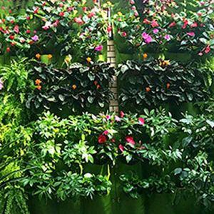 Momorain Sac de Plantation en Feutre Non tissé fixé au Mur avec Poche Verticale Jardinière Cintres Cintres Extérieur Fleurs d'intérieur Pots de Culture en Pots