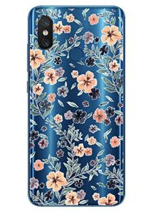 Oihxse Mode Transparent Silicone Case Compatible pour Xiaomi Mi Play Coque, Ultra Mince Souple TPU Mignon Animal Série Protection de Housse Anti-Scrach Bumper Etui -Fleur