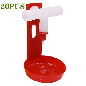 PET HOUND 20 Pcs Buveur De Mamelon d'eau Poulet Automatique pour Buveurs Arrosage Matériel Agricole Eau Potable Tasses Plastique Volaille Abreuvoir Buveur Oiseaux Poule