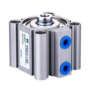 Précise 3/8″ NPT Compact cylindre d'air 125mm alésage 50 mm Stroke Remplacement Aftermarket for le type SMC