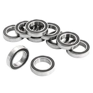 REFURBISHHOUSE 10Pcs 6802-2RS 15x24x5mm Roulements a Billes de cannelure Profondes en Metal Blinde Scelle