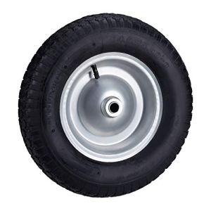 Relaxdays, noir brouette 200 kg, roue de rechange avec axe, caoutchouc essieu 4.80 4.00-8