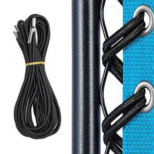 Remplacement Corde, 4 Cordes élastique Universel de Dentelle pour Zero Gravity Chaise Pliante et Inclinable Chaise Transat de Jardin Fauteuil Relax, Fauteuil de Salon(Noir)