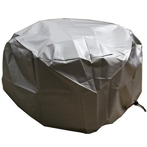 Ronde foyer D'extérieur Protection UV Housse de Pluie, Journal Brûleur Coque – Argent 30″D x 11.8″H Pour Brasero de Jardin Grille Barbecue)