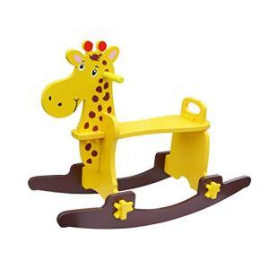 SCDXJ Chevaux à Bascule Enfants en Bois Cheval Cheval à Bascule Solide Rocking Horse Rocking Chair Toy Cadeau de bébé en Bois Petit Bois Cheval Jouet (Color : C)