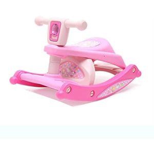 SCDXJ Grand Rocking Toy Cheval à Bascule, asseyez-Vous et de Spin Enfant en Plastique Multi-Fonction Cheval à Bascule, Cheval à Bascule Enfants par Rapport à Chaise Double Usage (Color : Pink)