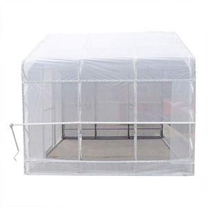 Serre portable en acier en forme de C avec membrane double couche pour balcon, chambre de fleurs, toit, abat-jour, Couleur