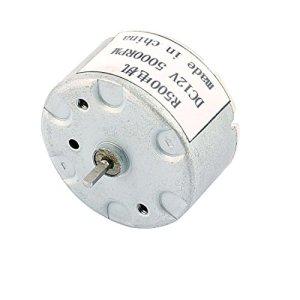 sourcingmap® R500 DC 12V 5000TR/MIN Télévision Micro magnétique Modèle cylindrique l'arbre moteur à courant continu