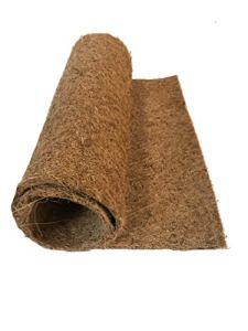 Tapis de Culture 100% Coco, 100 x 50 cm, env. 7 mm d'épaisseur, Tapis de Culture 100% Coco, Tapis pour la Culture de cresson et de pousses (microgreens), 100% biodégradable, Tapis de Noix de Coco