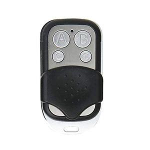 Télécommande RF sans fil 4 canaux ABCD 433 MHz Porte universelle pour porte de garage Télécommande Télécommande Fob (code fixe noir et argent)
