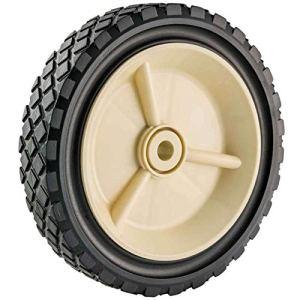 TENTE Roue pour Tondeuse de Jardin 09259-Roue polyéthylène-Diamètre 175 mm/Épaisseur 38 mm/Alésage 12 mm-Solide, Noir