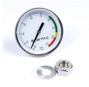 Thermomètre pour Alambic De 1/2″ – 20°C à 110 °C pour Condenseur, Fumeur