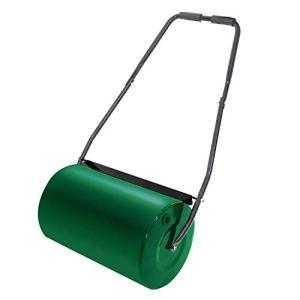 UISEBRT Rouleau à Gazon rempli 57 cm 46 l Capacité de Remplissage – Rouleau de Jardin Manuel 32 cm de diamètre Vert