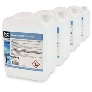 4 x 5 L traitement anti algues non moussant choc – FRAIS DE PORT OFFERT – en bidons de 5 L