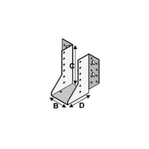 Alsafix – 25 sabots de charpente à ailes extérieures (P x l x H x ép) 80 x 160 x 200 x 2,5 mm – AL-SE160200 – Alsafix