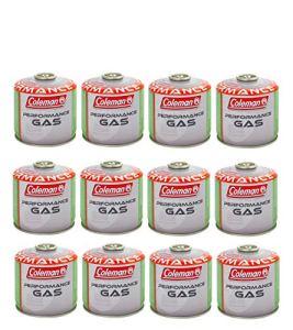 ALTIGASI Lot de 12 Cartouches de gaz Coleman C300 Performance à Filetage avec 240 g de gaz (mélange Butane/Propane) pour Tous Les Produits Coleman avec Connexion à vis