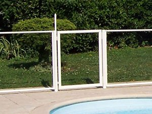 Chalet-Jardin 24MODULEPORTILLON Barrière de Protection pour Piscine Portillon Transparent 90 x 117 cm